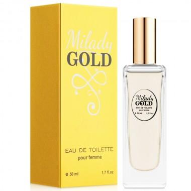 Туалетная вода для женщин EVA cosmetics Ароматы мира Milady Gold 50 мл (04370100203)