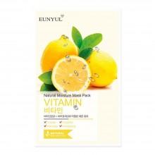 Витаминная тканевая маска для лица Eunyul Natural Moisture Mask Pack Vitamin 25 мл (8809435402135)