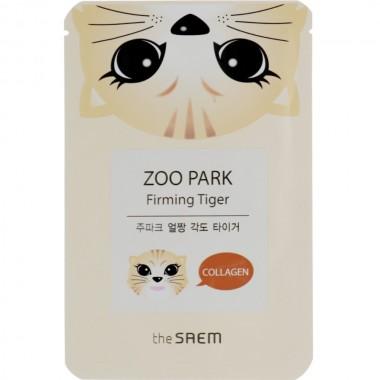 Тканевая маска для лица с гидролизованным коллагеном The Saem Zoo Park Firming Tiger 25 мл (8806164127803)