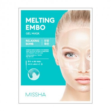 Тающая маска для лица анти-стресс Missha Melting Embo Gel Mask Relaxing Bomb 30 мл (8809581469976)