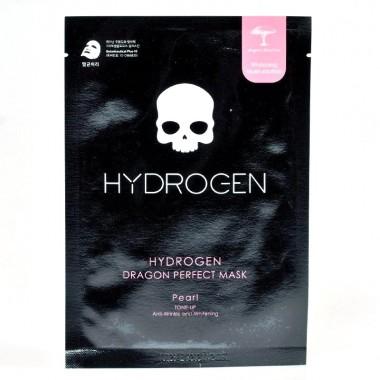 Осветляющая тканевая маска для лица с жемчугом Hydrogen Dragon Perfect Mask Pearl 1 шт (8809567923560)