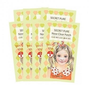 Набор пластырей для носа от черных точек The Saem Secret Pure Nose Clear Patch Set (8pcs) 8шт*3г (8806164117521)