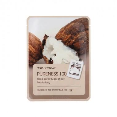 Маска для лица с экстрактом масла Ши Tony Moly Pureness 100 Shea Butter Moisturizing Mask Sheet 21 мл (8806194004464)