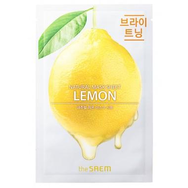 Тканевая маска для лица с лимоном The Saem Natural Lemon Mask Sheet 21 мл (8806164158821)