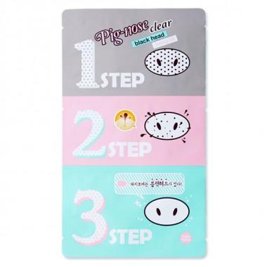 Набор для удаления черных точек Holika Holika Pig Nose Clear Black Head 3-Step Kit 20 г (8806334371807)