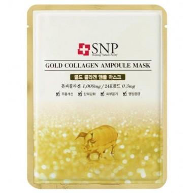 Ампульная маска для лица с золотом и коллагеном SNP Gold Collagen Ampoule Mask 25 мл (8809237825231)