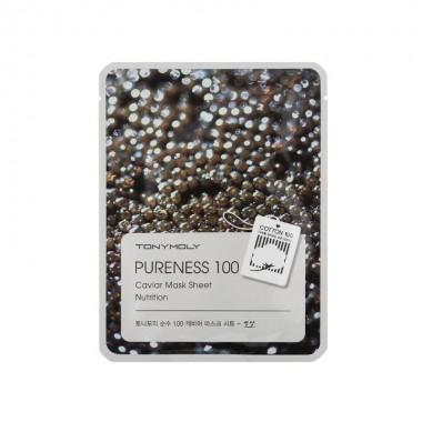 Маска для лица с экстрактом черной икры Tony Moly Pureness 100 Caviar Nutrition Mask Sheet 21 мл (8806194004396)