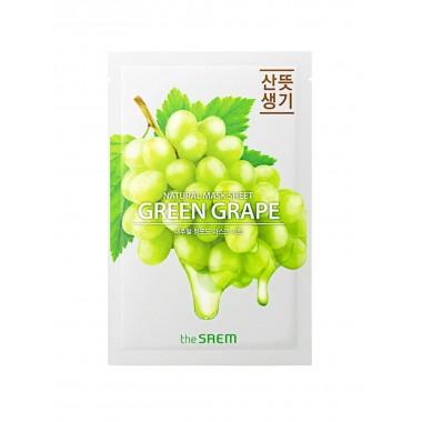 Тканевая маска с экстрактом зелёного винограда The Saem Natural Green Grape Mask Sheet 21 мл (8806164160459)