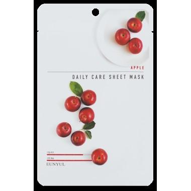 Питательная маска для лица с яблочным экстрактом Eunyul Daily Care Mask Sheet Apple 22 г (8809435405402)