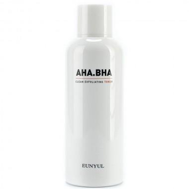 Тонер для чистой кожи лица с кислотами Eunyul AHA BHA Clean Exfoliating Toner 180 мл (8809435405013)