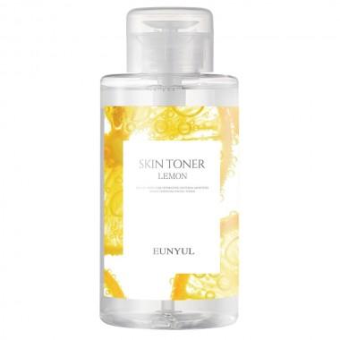 Тонер для лица освежающий с экстрактом лимона Eunyul Skin Toner Lemon 500 мл (8809435402609)