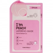 2-х шаговая маска для лица с экстрактом персика Tony Moly I'm Peach Layering Mask Sheet 23 мл (8806194023212)