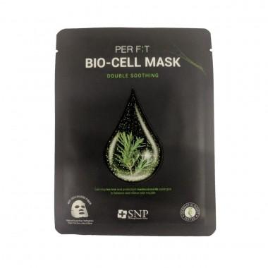 Успокаивающая биоцеллюлозная маска для лица SNP Double Soothing Bio-cell Mask 25 мл (8809458846985)
