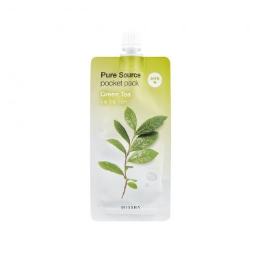 Ночная маска для лица с экстрактом зеленого чая Missha Pure Source Pocket Pack Green Tea 10 мл (8806185781831)