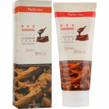 Пенка для умывания с экстрактом красного женьшеня Farmstay Red Ginseng Pure Cleansing Foam 180 мл (8809469771245)