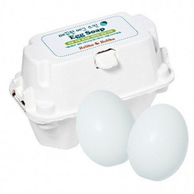 Мыло для умывания лица c яичным белком Holika Holika Egg Soap 50 г + 50 г (8806334338091)
