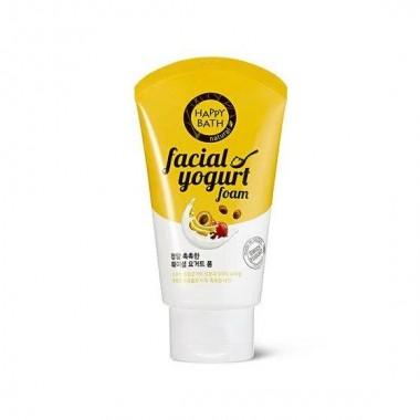 Увлажняющая пенка для умывания сухой кожи лица Happy Bath Real Moisture Facial Yogurt Foam 120 г (8806403090905)