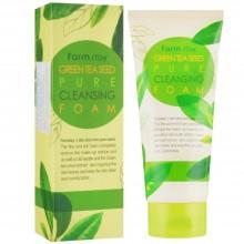 Пенка для умывания лица с зелёным чаем Farmstay Green Tea Seed Pure Cleansing Foam 180 мл (8809317286358)