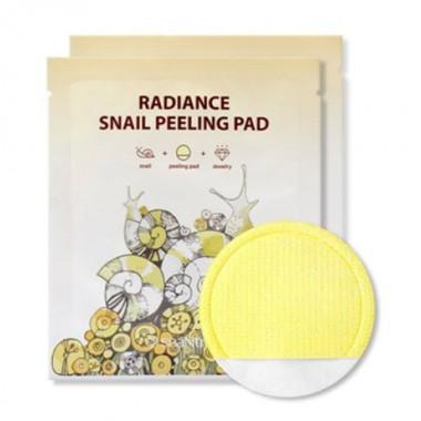 Салфетка для пилинга с улиточным фильтратом SeaNtree Radiance Snail Peeling Pad 1 шт (8809476694957)