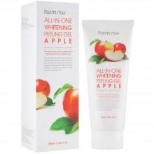 Осветляющий пилинг-гель для лица с яблоком Farmstay All In One Whitening Peeling Gel Cream Apple 180 мл (8809317284767)