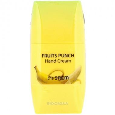 Крем для рук фруктовый пунш Персик The Saem Fruits Punch Hand Cream Peach 50 мл (8806164135945)