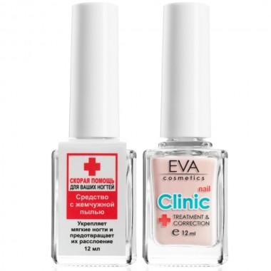 Средство для укрепления ногтей с жемчужной пылью Eva Cosmetics Nail Clinic 12 мл (01011900803)