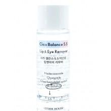 Слабокислотное двухфазное средство для снятия макияжа Etude House Cica Balance 5.5 Lip & Eye Remover 24 мл (8800000002208)