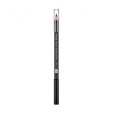 Контурный карандаш для бровей Missha Smudge Proof Wood Brow No.1 Dark Brown 0,3 г (8806185772587)