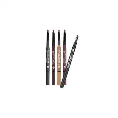 Автоматический карандаш для бровей с щёточкой Holika Holika Wonder Drawing 24hr Auto Eyebrow 02 Dark Brown 0,4 (8806334347680)