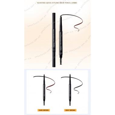 Автоматический карандаш для бровей SeaNtree Quick Styling Brow Pencil Jumbo 02 Grey Brown 0,35 г (8809476692144)