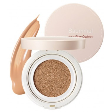 Увлажняющий кушон The Saem Saemmul Aqua Glow Cushion 01 Light Beige 15 г (8806164134832)