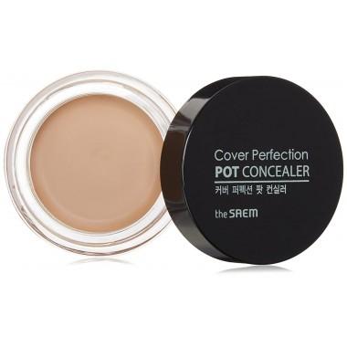 Кремовый консилер для лица The Saem Cover Perfection Pot Concealer 01.Clear Beige 4 г (8806164118092)