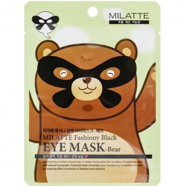 Маска от морщин для кожи вокруг глаз Milatte Fashiony Black Eye Mask Bear 10 мл (8809535260222)