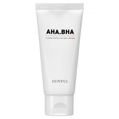 Крем для чистой кожи лица с кислотами Eunyul AHA BHA Clear Exfoliating Cream 50 мл (8809435405037)