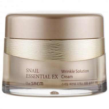 Улиточный крем от морщин The Saem Snail Essential Ex Wrinkle Solution Cream 60 мл (8806164126264)