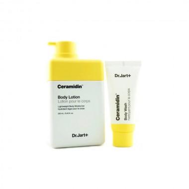 Набор для тела (лосьон и гель для душа) Dr. Jart+ Ceramidin Body Lotion + Ceramidin Body Wash 250 мл + 30 мл (8809535802446)