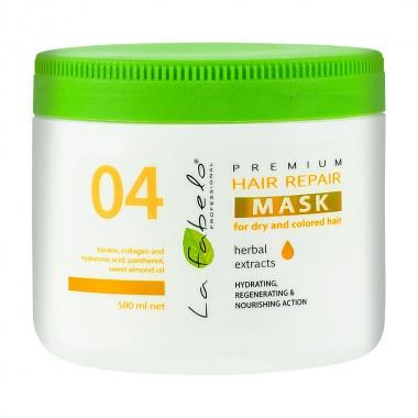 Маска восстановление для сухих и окрашенных волос La Fabelo Premium 04 Hair Repair Mask 500 мл (1490102701)