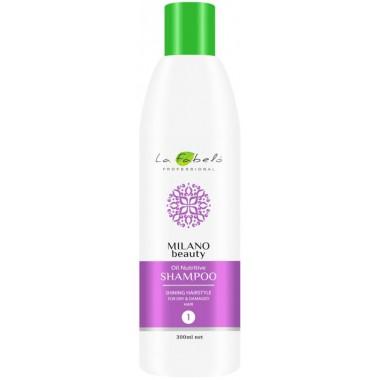Шампунь питательный для сухих волос La Fabelo Milano Beauty Oil Nutritive Shampoo 300 мл (9120069891119)