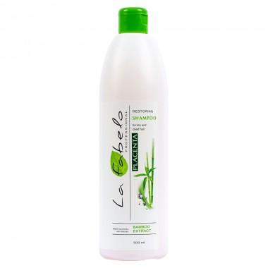 Шампунь для сухих и окрашенных волос с экстрактом бамбука La Fabelo Professional Restoring Placenta Shampoo (1490104601)
