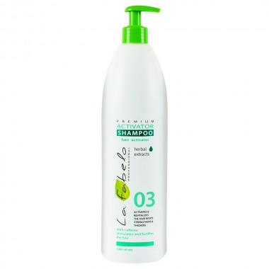 Шампунь активатор роста волос La Fabelo Premium 03 Activator Shampoo 1000 мл (01490102301)
