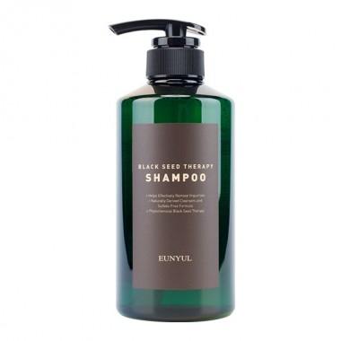 Шампунь с маслом черного тмина для увлажнения и мягкости волос Eunyul Black Seed Therapy-Shampoo 500 мл (8809435405860)