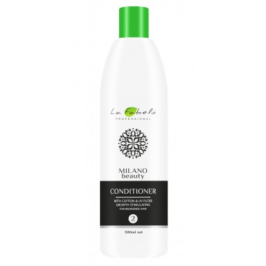 Укрепляющий кондиционер активатор роста волос La Fabelo Milano Beauty Conditioner 500 мл (01490109801)
