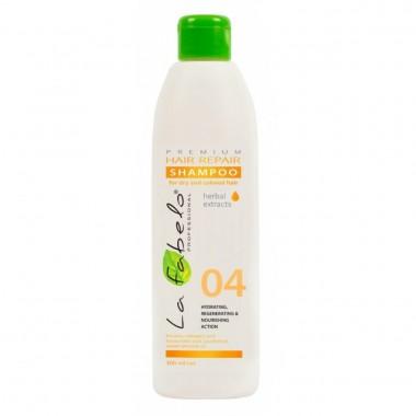 Шампунь восстановление для сухих и окрашенных волос La Fabelo Premium 04 Hair Repair Shampoo 300 мл (1490102901)