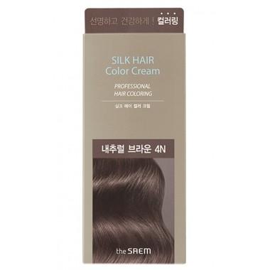 Крем-краска для волос The Saem Silk Hair Color Cream Natural Brown 60 г (8806164153468)