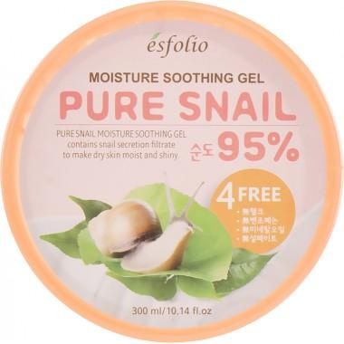 Увлажняющий крем-гель для лица с муцином улитки Esfolio Pure Snail Moisture Soothing Gel 95% Purity 300 мл (8809386880976)